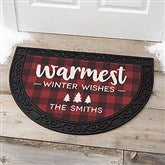 Cozy Cabin Personalized Half Round Doormat - 21869