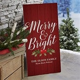 Nostalgic Noel Personalized Standing Wood Sign - 21871