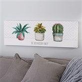 Mixed Cactus & Succulents Personalized Canvas Print- 12