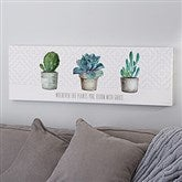 Mixed Cactus & Succulents II Personalized Canvas Print- 12