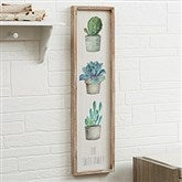 Mixed Cactus & Succulents II Personalized Barnwood Frame Wall Art- 30