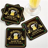 Old Irish Pub Personalized Coaster Set - 2189