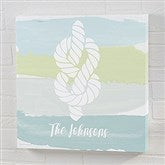 Seaside Swatch Knot Personalized Canvas Print- 12