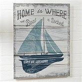 Up North Personalized Wooden Shiplap Sign- 16