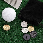 Monogram Personalized Golf Ball Markers - 2190D
