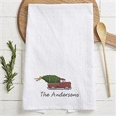 Classic Christmas Personalized Flour Sack Towel - 21931