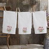 Nostalgic Noel Personalized Flour Sack Towel - 21932