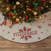 Stamped Snowflake Personalized Christmas Tree Skirt - 21942