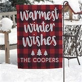 Cozy Cabin Personalized Garden Flag - 21961