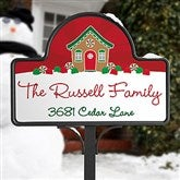 Gingerbread Family Personalized Magnetic Garden Sign - 21966