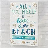 Love and the Beach Personalized Canvas Print - 12