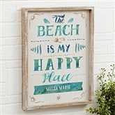 The Beach Personalized Barnwood Frame Wall Art- 14