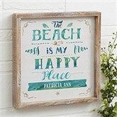 The Beach Personalized Barnwood Frame Wall Art- 12