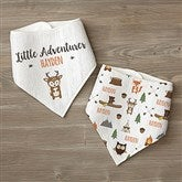 Woodland Adventure Deer Personalized Bandana Bibs- Set of 2 - 21985-D