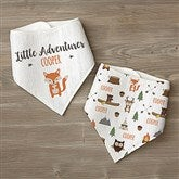 Woodland Adventure Fox Personalized Bandana Bibs- Set of 2 - 21985-F