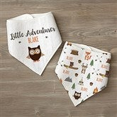 Woodland Adventure Owl Personalized Bandana Bibs- Set of 2 - 21985-O
