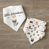 Woodland Adventure Raccoon Personalized Bandana Bibs- Set of 2 - 21985-R