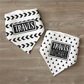 Black & White Personalized Bandana Bibs- Set of 2 - 21990
