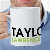 Bold Name Personalized 30 oz. Oversized Coffee Mug - 22038