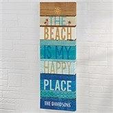 Happy Beachscape Inspiration Personalized Canvas Print- 12