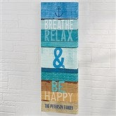 Relax Beachscape Inspiration Personalized Canvas Print- 12