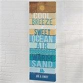 Beachscape Inspiration  Personalized Canvas Print- 12