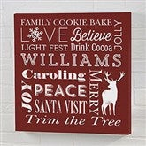 Holiday Traditions Personalized Canvas Print -12