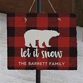 Cozy Cabin Buffalo Check Personalized Slate Plaque - 22080