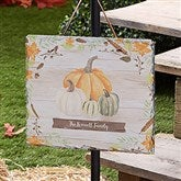 Autumn Pumpkins Light Wash Personalized Slate Plaque - 22270
