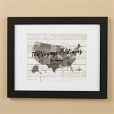 Barnboard Map Personalized Framed Print - 11x14 - 22402-11x14