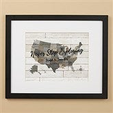 Barnboard Map Personalized Framed Print - 16x20 - 22402-16x20