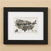 Barnboard Map Personalized Framed Print - 8x10 - 22402-8x10