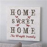Farmhouse Home Personalized Canvas Print- 12