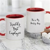 Office Expressions Personalized Coffee Mug 11 oz.- Red - 22649-R