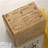 Recipe For A Happy Household Bamboo Recipe Box - 2414-B