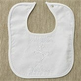 Personalized Christening Bib - Cord Trim - 2483-C