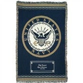 Proud To Serve Personalized Military Afghan - NAVY - 2507D-NA