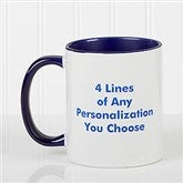 You Name It Personalized Coffee Mug 11oz.- Blue - 2514-BL