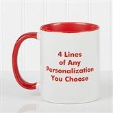You Name It Personalized Coffee Mug 11oz.- Red - 2514-R