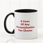 You Name It Personalized Coffee Mug 11oz.- Black - 2514-B