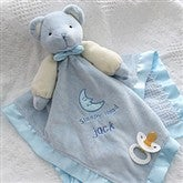 Personalized Bear Baby Blankie - Blue - 2547-B