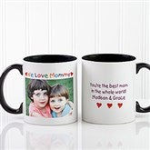 Personalized Photo Message Coffee Mug 11oz.- Black - 2562-B