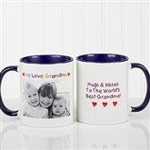 Personalized Photo Message Coffee Mug 11oz.- Blue - 2562-BL