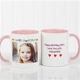 Personalized Photo Message Coffee Mug 11oz.- Pink - 2562-P