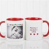 Personalized Photo Message Coffee Mug 11oz.- Red - 2562-R