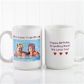 Personalized Photo Message Coffee Mug 15 oz.- White - 2562-L