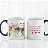 Personalized Photo Message Coffee Mug 11oz.- Black - 2584-B