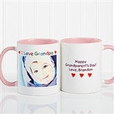Personalized Photo Message Coffee Mug 11oz.- Pink - 2584-P