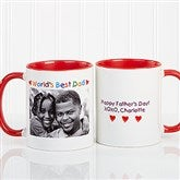 Personalized Photo Message Coffee Mug 11oz.- Red - 2584-R