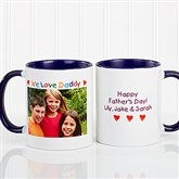 Personalized Photo Message Coffee Mug 11oz.- Blue - 2584-BL